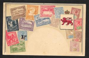 TASMANIA Stamps on Postcard Used c1922