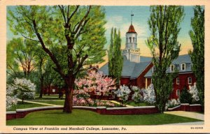 Pennsylvania Lancaster Campus View At Franklin and Marshall College Curteich