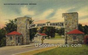 Camp Robinson, Ark, Post Card     ;     Camp Robinson, Arkansas