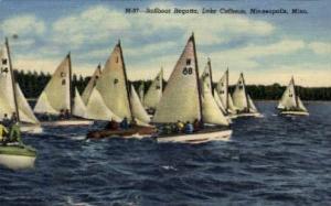 Sailboat Regatta, Lake Calhoun Minneapolis MN Unused