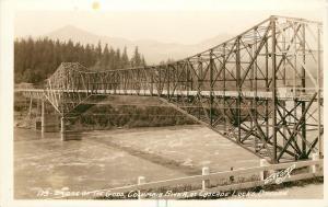 1910-30 Real Photo PC Bridge of the Gods Columbia River Cascade Locks OR Gifford