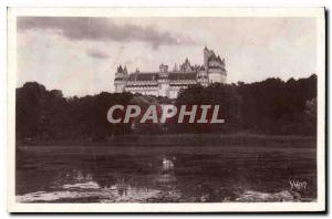 Old Postcard Chateau de Pierrefonds General View from the Pond
