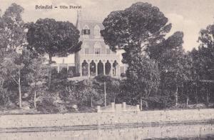 Brindisi Citta Villa Dionisi Italy Postcard