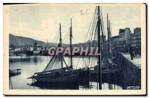 Old Postcard Montagne du Roule Avant Port Swing Bridge