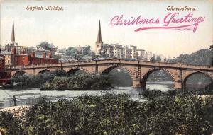 Shrewsbury, English Bridge, Christmas Greetings!