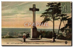 Fontainebleau forest Old Postcard The Calvary