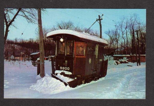 NY Brooklyn Rapid Transit Snowplow Trolley Car NEW YORK