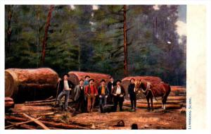 Loggers with  Giant cut trees Tucks no. 2205