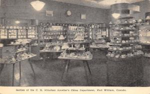 Fort William Ontario~CR Strachan Jeweller's China Department~Store Interior~1952
