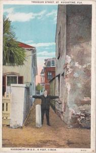 Florida St Augustine Treasury Street Narrowest Street In United States