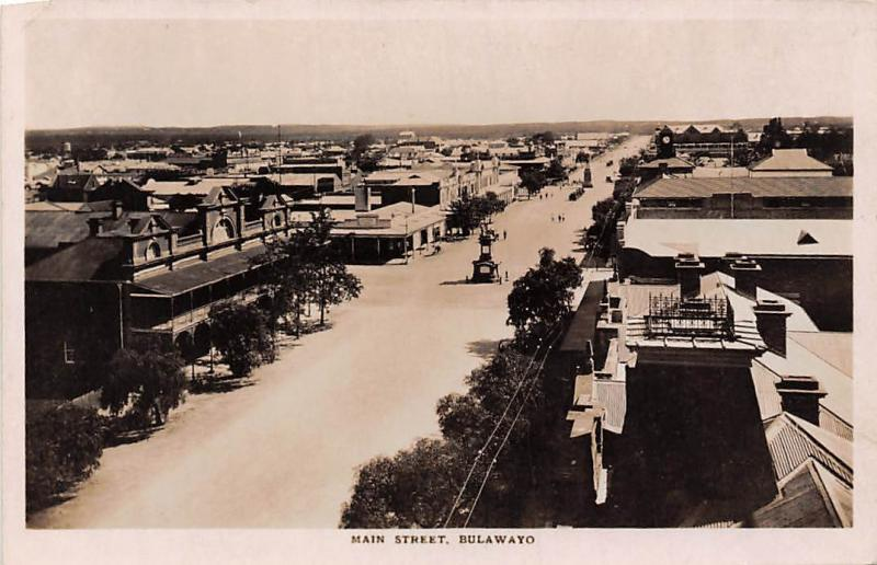Zimbabwe Rhodesia, Bulawayo, Main Street, Panorama real photo