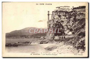 Old Postcard The French Riviera Menton Les Rochers Rouges