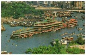 The Floating Restaurant Of Aberdeen Hong Kong Postcard PC1050