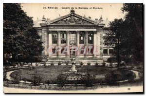 Postcard Nantes Old Square and the Mint Museum