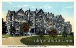 Bethlehem, PA, USA Moravian College & Theological Seminary Old Vintage Antiqu...