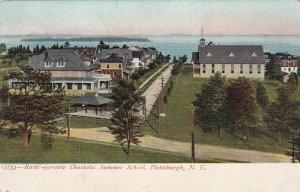 PLATTSBURGH, New York, PU-1908; Bird's-Eyeview Catholic Summer School