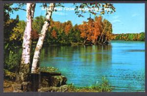 Greetings From Marshfield,WI,Lake Scene