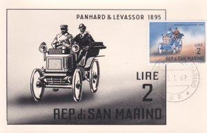 REP. di SAN MARINO, 1962, Maximum Card, Panhard & Levassor 1895