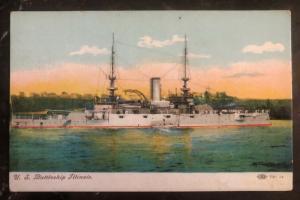 Mint USA Color Picture Postcard USS Illinois  BattleShip BB 7