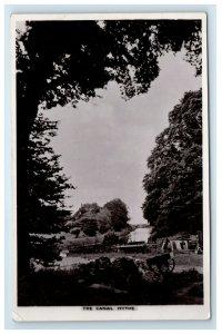 RPPC The Canal Hythe Royal Military England Real Photo Postcard