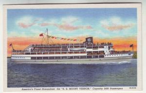 P207 JLs old postcard ship ss mt vernon streamliner virginia