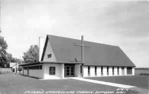 Oxford Wisconsin~St John's Evangelical Lutheran Church~Rev Bartels~Vintage RPPC