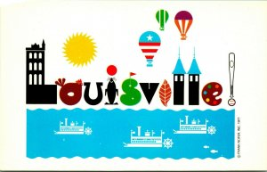 Frank Nofer Artist Signed 1977 Louisville Kentucky KY UNP Vtg Chrome Postcard
