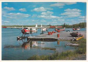 A close up of thr air charter base in the Old Town of Yellowknife, Northwes...