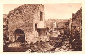 Italy Old Vintage Antique Post Card Pompei Forno Pubblico e Mulini Unused