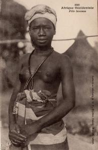 Afrique Occidentale Risque African Woman Old Postcard