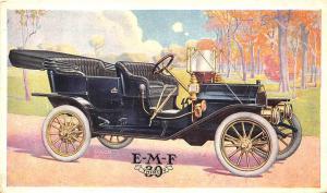E-M-F 30 Mack Detroit Colour Blue Postcard