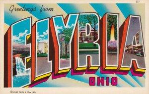 Large Letter ELYRIA, Ohio, 1930-1950s