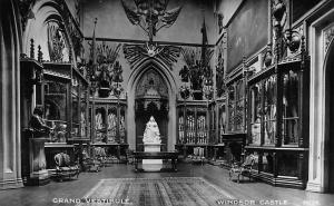 Windsor Castle, Grand Vestibule, Interior, Real Photograph