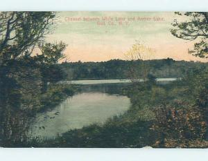Divided-Back AMBER LAKE & WHITE LAKE Rockland - Roscoe New York NY hk3389