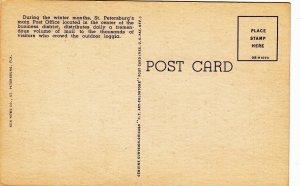 P1772 vintage many people old cars post office st. petersburg florida