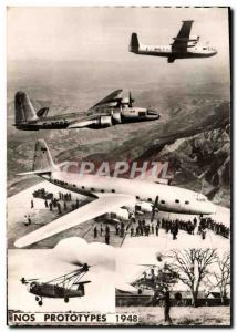 Old Postcard Jet Aviation Our prototypes 1948 Helicopter Georges Hereil Wishe...