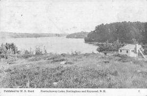 Nottingham and Raymond New Hampshire Pawtuckaway Lake Vintage Postcard JD933692