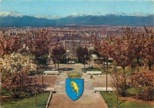 Postcard Italy  Turin panorama park emblem