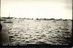 british honduras, BELIZE, Fort George from the Water (1930s) Avery's RPPC