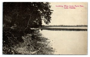 1913 Looking West from Park Pier, Lake Osakis, MN Postcard *6S(4)9
