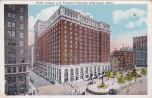 Ohio Cincinnati Hotel Gibson and Fountain Square 1926 Kraemer Art