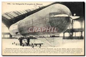 Old Postcard Jet Aviation Zeppelin Airship French Baron Edmond de Marcay Marc...