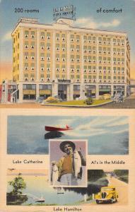 Hot Springs Park Arkansas Hotel Como Multiview Antique Postcard K103918