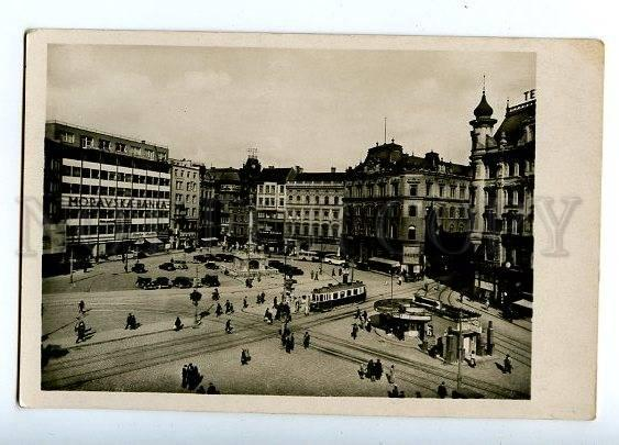 131669 Czech BRNO Namesti Svobody Vintage photo postcard