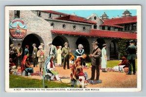 Albuquerque NM, Entrance To The Indian Building, Vintage New Mexico Postcard