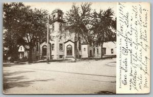 Ottumwa Iowa~First Christian Church on Corner~Neighboring Homes~1907 B&W PC