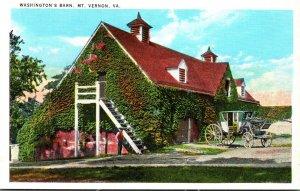 Virginia Mount Vernon Home Of Washington Washington's Barn