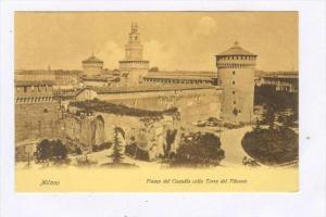Fianco Del Castello Colla Torre Del Filarete, Milano (Lombardy), Italy, 1900-...