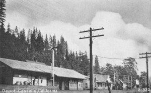 Railroad Depot CASTELLA, CA Shasta County c1910s Vintage Postcard