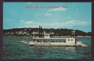 Greetings From Dubuque,IA River Boat